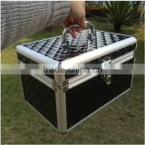Wholesale Aluminum And Acrylic Storsage Box Waterproof Makeup Cosmetic Train Case ZYD-HZ120307