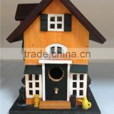 New novelty painting wooden bird shed pet cage