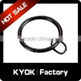 KYOK 10 years factory with high quality plastic material curtain rod rings wholesale,thickness 0.8mm curtain eyelet rings
