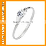 S925 Solid Silver Fashion Women' Jewelry Filled Wedding Engagement Wedding Rings PGRG0108