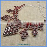 Wholesale Luxury Women's Statement Red Crystal Bead Necklaces SGN-P013B