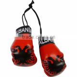 Albania Country Flag Mini Boxing Gloves to Hang Over Your Automobile Mirro