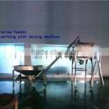 auger screw conveyor working for mixer