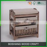 2 Layer 2-4 Drawers Basket Cabinet Furniture wooden bench
