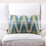 Printed Pattern and Square Shape canvas lumbar cushion cover