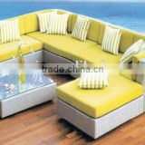 00 indoor furniture for living room comfortable fashionable corner rattan coner sofa set YPS050