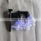 led christmas holiday party wedding outdoor indoor bettery solar Bubble water droplets shape fairy string light
