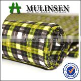 Woven New fashion check printed TC school uniform material fabric