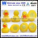 Rubber weighted 8cm duck with metal plate on the bottom