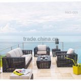 Synthetic Bamboo Wicker Rattan Sofa Set - Poly Rattan Garden Sofa Outdoor Furniture (1.2mm aluminum frame, waterproof cushion)