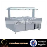commercial electric buffet stainless steel display cool bar fridge