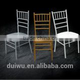 High quality hotel metal furniture wedding hall chiavari chairs