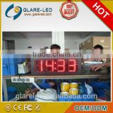 5'' to 12'' Outdoor led clock and temperature display and LED digital clock displays wholesales from Shenzhen Glare-LED