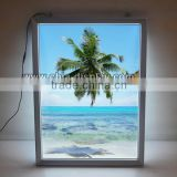 Advertising light up sign board super slim light box led backlit illuminated picture frame