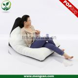 High-back quilted PU leather bean bag recliner lounger, living room comfy bean bag sofa couch