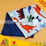 2016 Newest Design MOQ 10PCS Super Soft SGS Checked Baby Burping Cloths