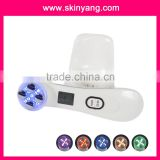new Home use facial massager 1mhz & 3mhz ultrasonic +photon therapy ion facial machine for face rejuvenation
