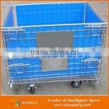 Aceally Steel Wire Cage Pallet Warehouse Folding Mesh Box Pallet