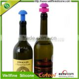 Wholesale colorful silicone wine stopper food grade silicone screw stopper