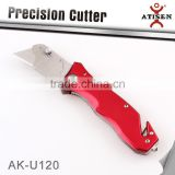 NEW Retractable Folding Utility Knife Box Cutter Blade Safety Side Lock