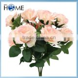 Factory wholesale fake flower,home or wedding decoration rose flowers artificial bouquet, silk flowers artificial wall