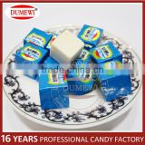 Cube Shaped Wrapped Milk Press Candy In Box
