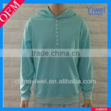 Blank plain high quality hoodies button up hoodies