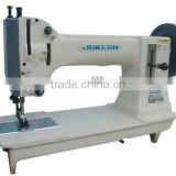 Unison feed lockstitch sewing machine for extra heavy materials
