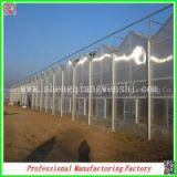 large size aluminium profile PC sheet greenhouses with heating system