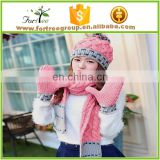 wholesale fashion hat ansd scarf set accessories for women
