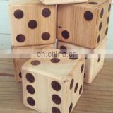 New giant wooden custom yard dice set DIA9cm for outdoor game