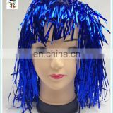 Cheap Madi Gras Party Unisex Blue Tinsel Wigs HPC-0054