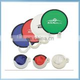 Wholesale 190T Nylon Fabric Foldable Frisbee Fan With Pouch Foldable Frisbee Fan With Handle Folding