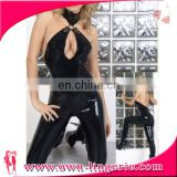 New Sexy Women Leather bodysuit Black Latex Catsuit sexy Catwomen Bodysuit