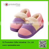 colorful rainbow winter warm shoes/man &woman slipper