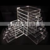 Cosmetic Organizer Clear Acrylic Jewellery Box Makeup Storage Case With Drawer
