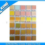 2014 newest color card for PVC airblowing granule