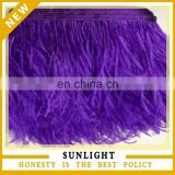 Dark Purple Ostrich Feather Fringe Ostrich Feather Trim