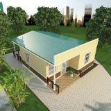 3E prefab house-two bedrooms Energy conservation, Environmental protection and Easy assembled house