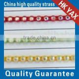 0305L SS6-SS38 loose China cup chain glass, China cup chain glass beads, roll cup chain glass for wedding dress