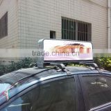 mobile media taxi headrest advertising full color 3G/wifi IP65 960*320mm taxi lighted sign