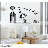 New Special Mural House Sunny Beach Leisure Style Removable Decoration Wall Stickers