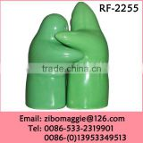 Professional Zibo Made Colored Custom Print Porcelain Salt and Pepper Shaker Wedding Gift SetWholesale