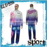 Hot Selling OEM cheap Custom Sublimation Long Tracksuit/Jacket Warm Up/New Design women tracksuit