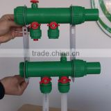 2-8 ways PPR Water manifold for floor heating/More efficient than brass manifold/fittings