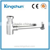 New sanitary ware basin waste accessories chrome plated bottle trap sink brass siphon(J190)