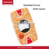 D530 Hot New Design Stainless Steel Beer Bottle Opener Basketball Court Bottle Opener Fridge Magnets