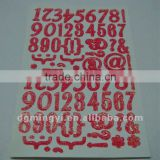 Glitter Number Stickers