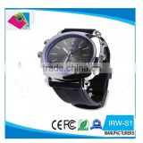 OEM factory fashionable waterproof 100% 32gb hidden watch camera, sport mini DV, security watch webcam wit hIR night vision