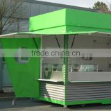 Free design OEM ODM available prefabricated shops, prefabricated kiosk,stainless steel booth